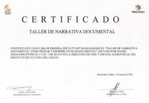 Certificado 1 001
