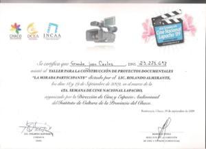certificado 009